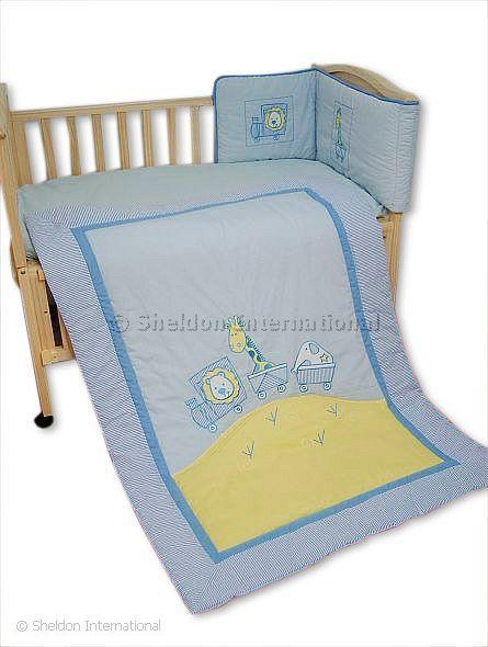 couette et tour de lit set b b le train grossiste et fournisseur. Black Bedroom Furniture Sets. Home Design Ideas