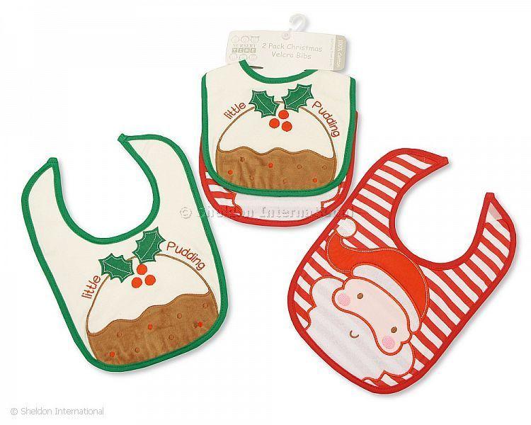 60b4ea12dc7bb Coton bavoirs bébé de Noël 2-pack - Pudding de Noël - Grossiste et ...
