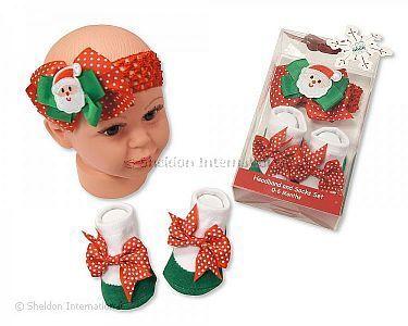 ca227d1035d8c Bandeau et chaussettes ensemnble bébé - Père Noël - Grossiste et Fournisseur