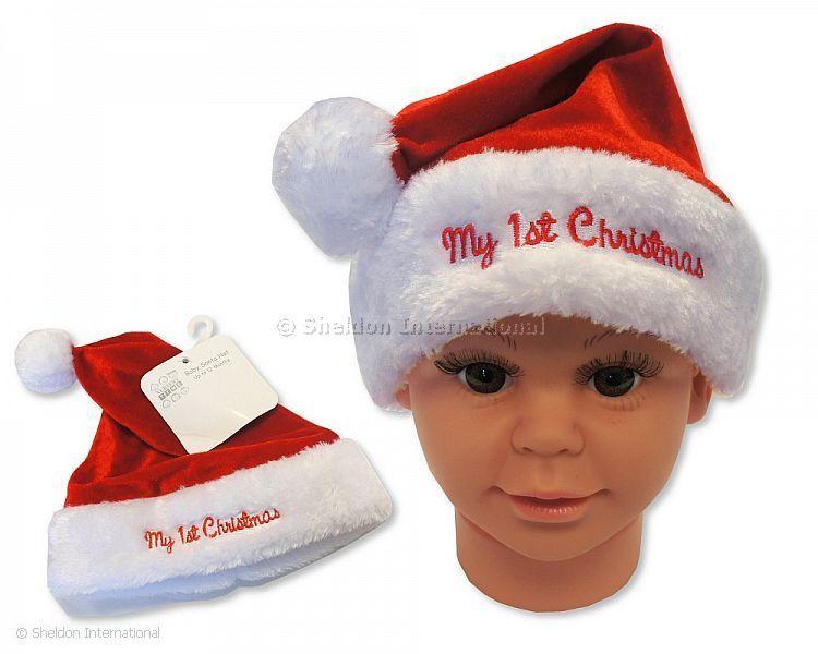 75088ced05c0a Bonnet de Noël pour bébé garçon - Mon Premier Noël - Grossiste et  Fournisseur Cliquez pour agrandir
